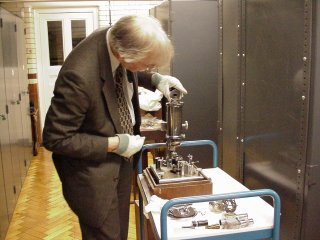 Rife #5 microscope in the London Science Museum